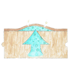 木部に塗膜があり湿気が逃げませんイメージイラスト