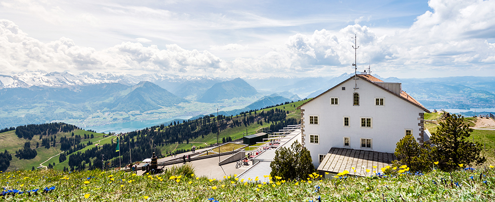 スイス漆喰(カルクウォール)の家の写真