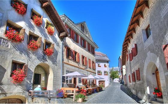 ドイツ・スイスの街並みの写真