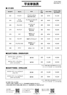 平米単価表