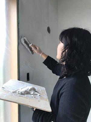 みんなで塗ろう! 漆喰塗りワークショップ