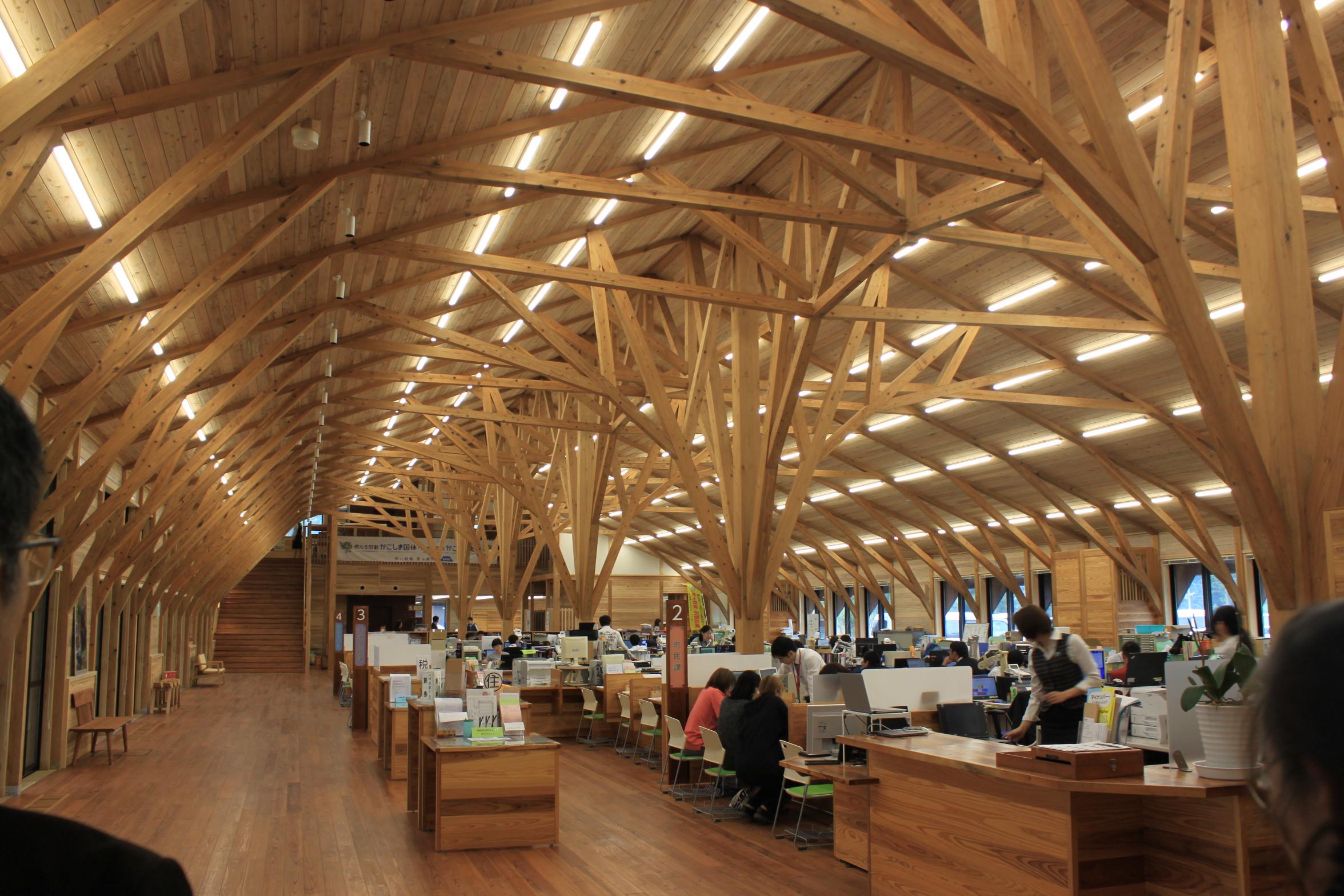 屋久島新庁舎内部
