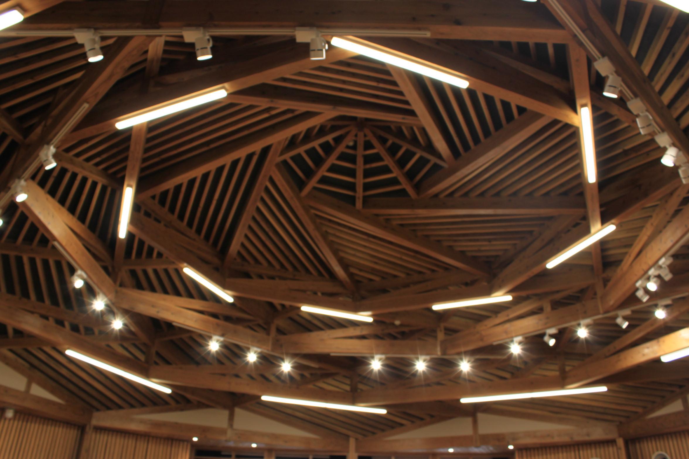 屋久島新庁舎天井