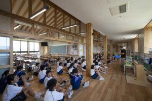 魚津市立星の杜小学校 空撮全景写真