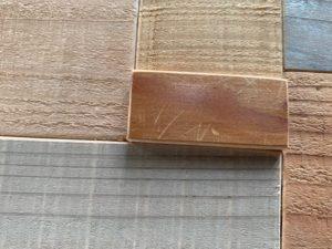 テーブル木片はめ込み前